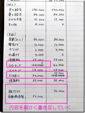 家計簿ノートの画像【3ステップ目は現金・カード支出を記入する】