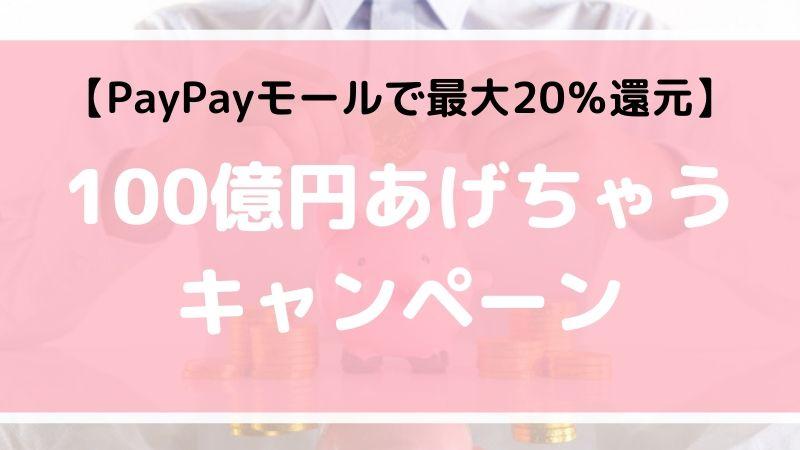 【最大20%還元】PayPayモールで100億円あげちゃうキャンペーンの中身と問題点を徹底解説【11/1〜】